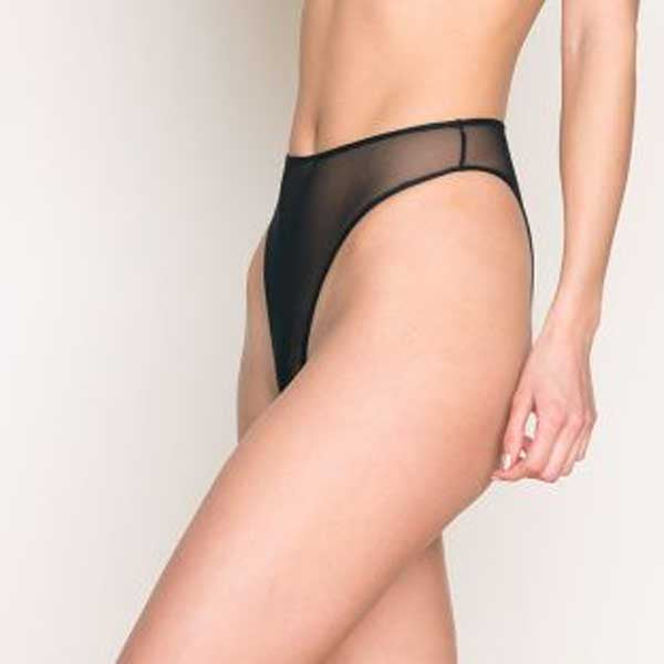 Only Hearts: Whisper High Cut Brief - Black