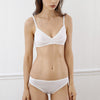 Araks: Antonia Cotton Wireless Bralette - White