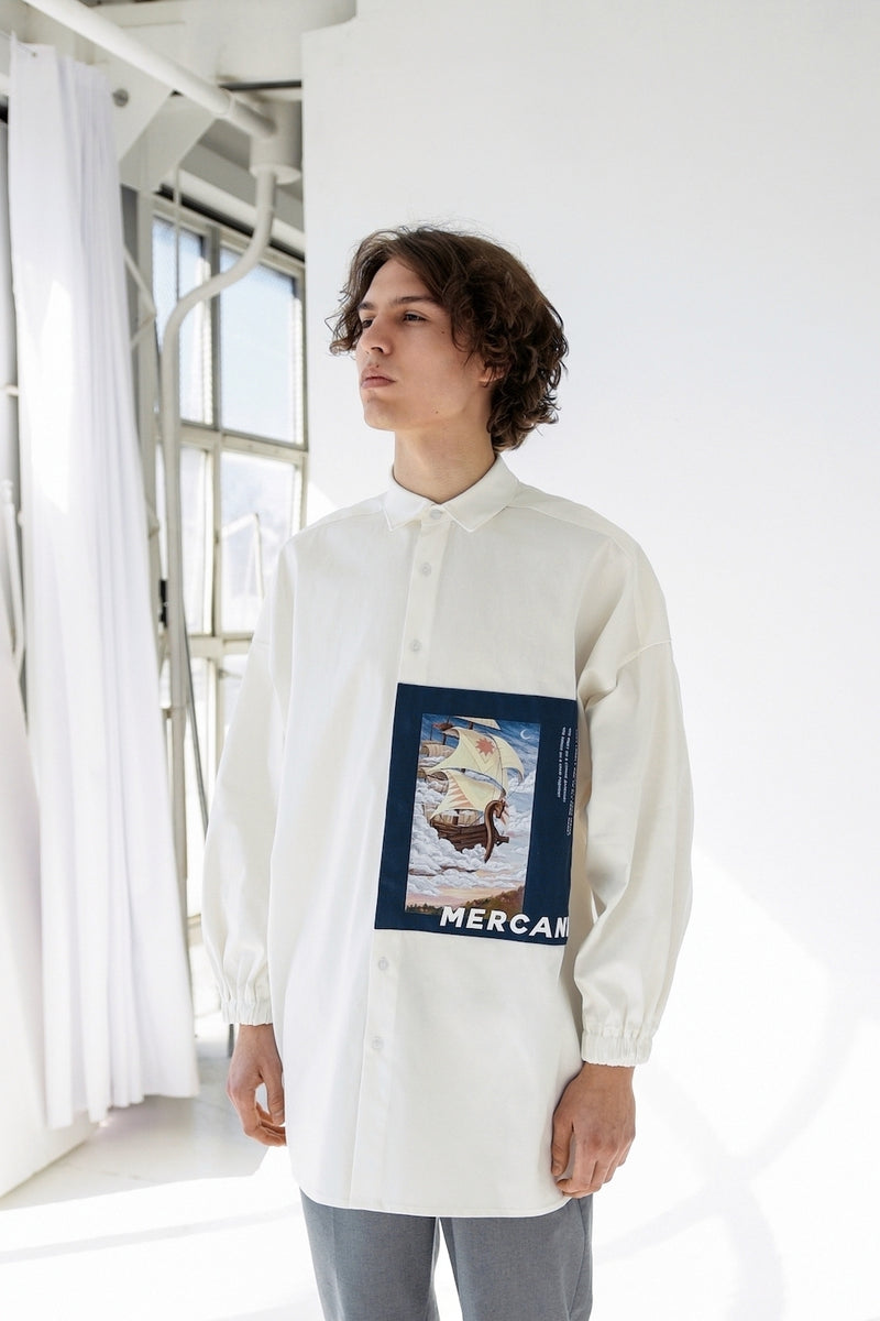 "Mercanie - oversized shirt ""Sail"" male"