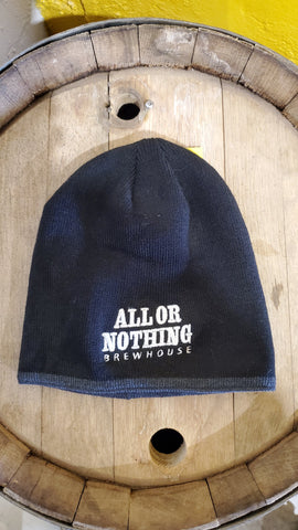 Black Winter AON Toque - All or Nothing Brewhouse