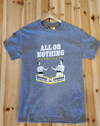 Light Gray AON Tee Shirt - All or Nothing Brewhouse