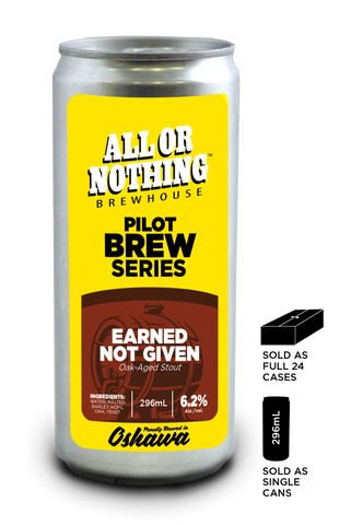 Earned Not Given Oak Aged Stout - 296 ml - All or Nothing Brewhouse