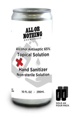 Hand Sanitizer 4 x 296 ml Pack - All or Nothing Brewhouse