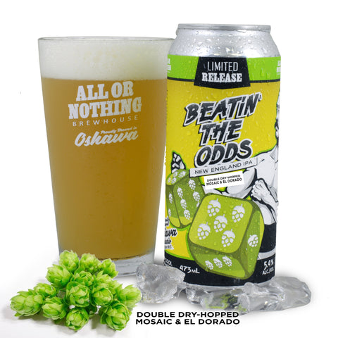 Double Dry Hopped (Mosaic & El Dorado) Beatin The Odds - New England IPA - 473 ml