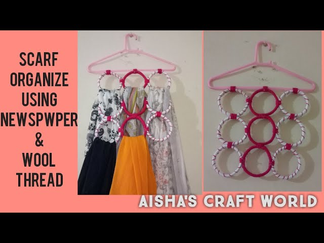 Hey everyone! Here is one more oppurtunity for you to make a beautifull scarf organizer using waste material at your own.