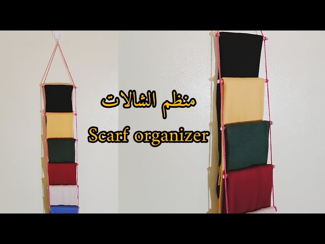 handmade #scarf #organizer #diy #craft #easy #Decor #room#craft.