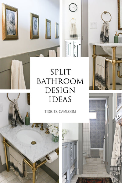 Do you need multiple people to share a bathroom space? Check out how we designed our split bathroom to work for our four kids and avoid bathroom chaos! Below you'll find plenty of split bathroom design ideas.