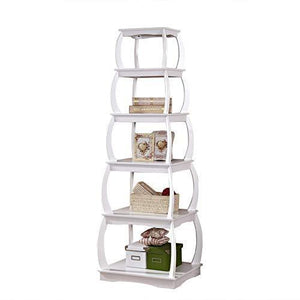 Buy now mixcept 66 multi purpose shelves 5 tier bookshelf bookcases wooden storage display shelf standing shelving unit collection shelf white