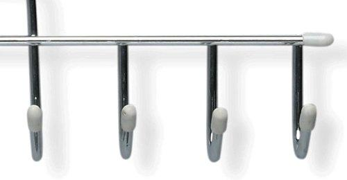 Honey-Can-Do HNGZ01311 Horizontal Tie and Belt Hangers, 2-Pack, Chrome/White