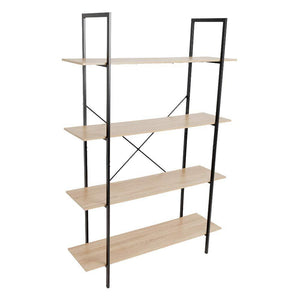 Products c hopetree open bookcase bookshelf large storage ladder shelf vintage industrial plant display stand rack home office furniture black metal frame 4 tier open