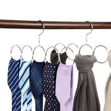 Load image into Gallery viewer, Poeland 1kuan Scarf Closet Organizer Hanger, No Snag Storage Scarves, Ties, Belts, Shawls, Pashminas, 2 Pack