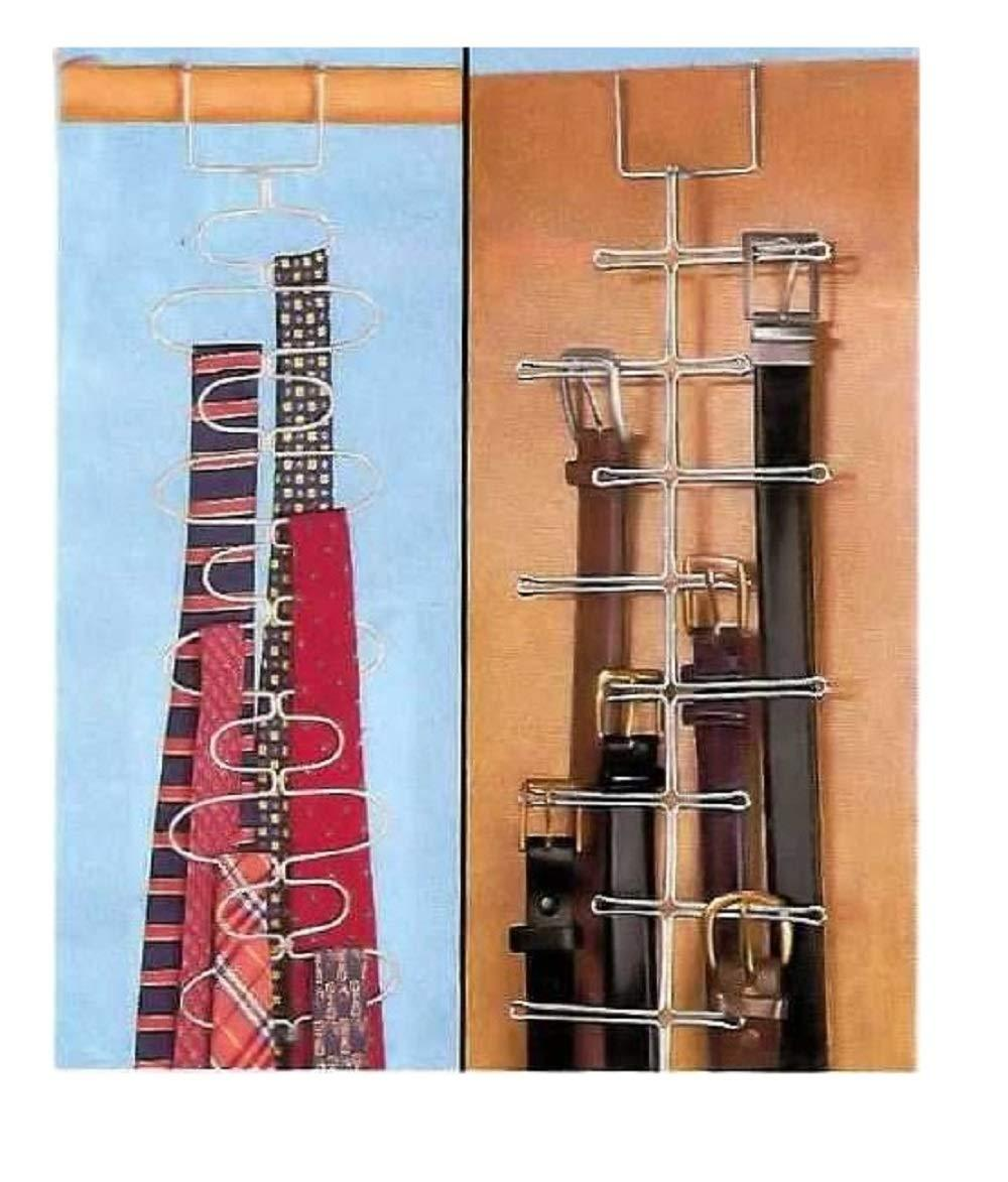 Trenton Gifts Belt & Tie Rack | Set of 2 | Heavy Duty Metal