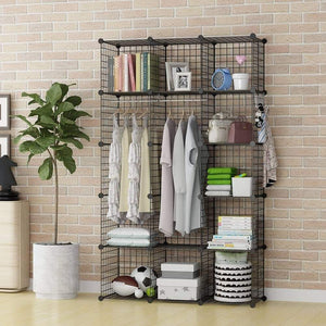 Latest george danis wire storage cubes metal shelving unit portable closet wardrobe organizer multi use rack modular cubbies black 14 inches depth 3x5 tiers