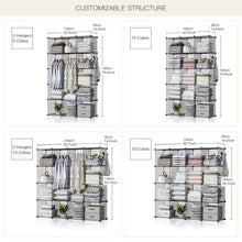 Load image into Gallery viewer, Kitchen george danis wire storage cubes metal shelving unit portable closet wardrobe organizer multi use rack modular cubbies black 14 inches depth 3x5 tiers