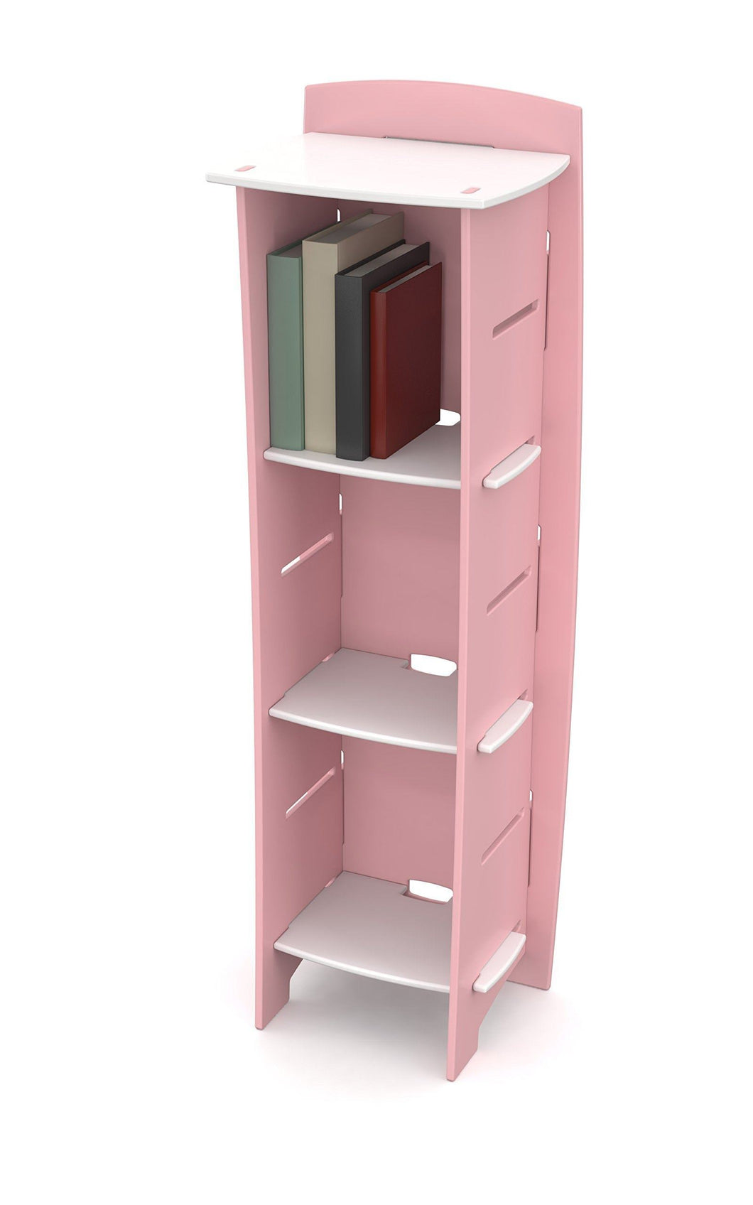 Order now legare furniture childrens furniture 3 tier shelf bookcase storage organizer with adjustable shelves for kids bedroom pink and white