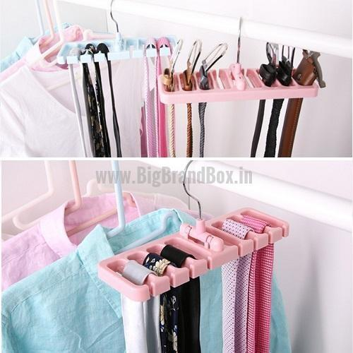 Rotating Tie Belt Scarf Hanger