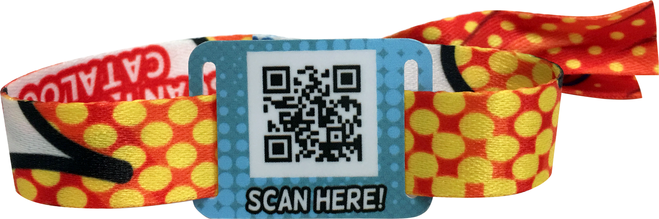 Sublimation Printed Fabric Wristbands with Sliding RFID Tags