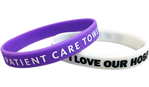 All Custom Silicone 1-Color Imprint Wristbands