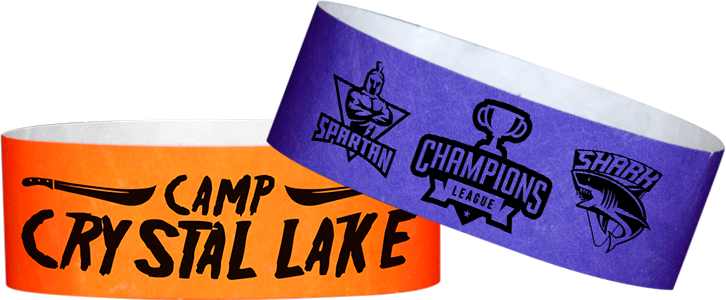 Custom 1-Color Tyvek® 1 inch wristbands