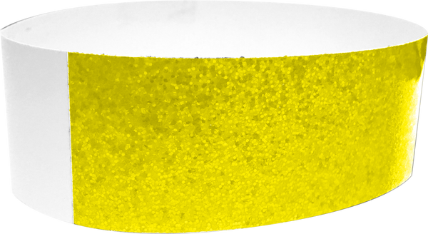 "An Adhesive 1"" X 10"" Sparkle Solid Neon Yellow wristband"