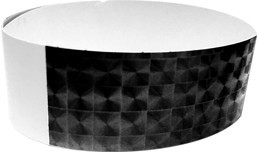 "An Adhesive 1"" X 10"" Techno Solid Black wristband"