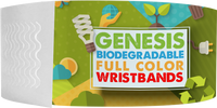 "Custom Genesis 1"" Litter Free Biodegradeable Full Color Imprint"