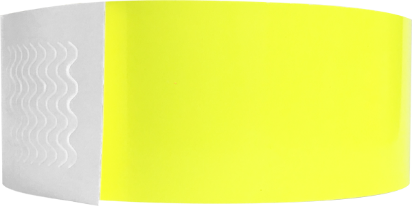 "Genesis 1"" Litter Free Biodegradeable Solid Yellow Glow Wristband"