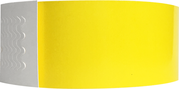 "Genesis 1"" Litter Free Biodegradeable Solid Yellow Wristband"