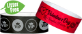 "Custom Litter Free 1"" Tyvek® One Color Imprint Wristbands"