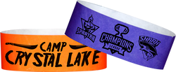 "Custom Tyvek® 1"" x 10"" One Color Imprint Wristbands"