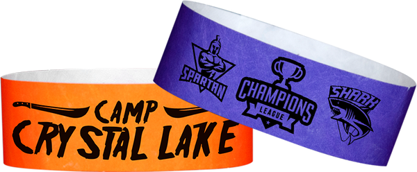 "Custom Tyvek 1"" x 10"" One Color Imprint Wristband"
