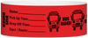 "A Tyvek® 1"" X 10"" Bus Rider Red wristband"