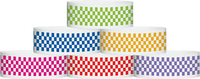 "A Tyvek® 1"" X 10"" Checkerboard Wristbands"
