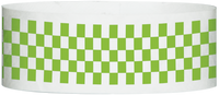 "A Tyvek® 1"" X 10"" Checkerboard Neon Lime wristband"