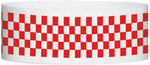 "A Tyvek® 1"" X 10"" Checkerboard Red wristband"