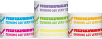 "Tyvek® 1"" x 10""  Drinking Age Verified Wristbands"