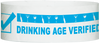 "A Tyvek® 1"" x 10""  Drinking Age Verified Light Blue wristband"