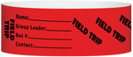 "A Tyvek® 1"" X 10"" Field Trip Red wristband"