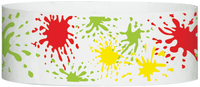 "A Tyvek® 1"" X 10"" Paint Splatter Multicolored wristband"