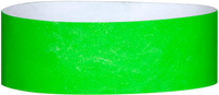 "A 1"" Tyvek® litter free solid Neon Lime wristband"