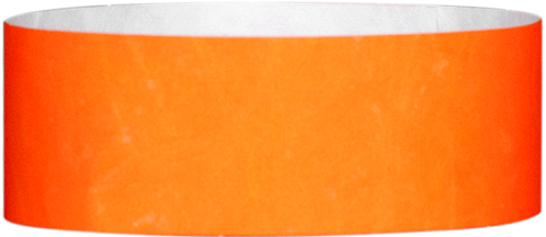 "A 1"" Tyvek® litter free solid Neon Orange wristband"