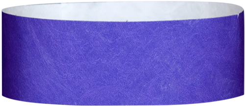 "A 1"" Tyvek® litter free solid Purple wristband"