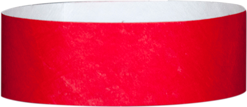 "A 1"" Tyvek® litter free solid Red wristband"