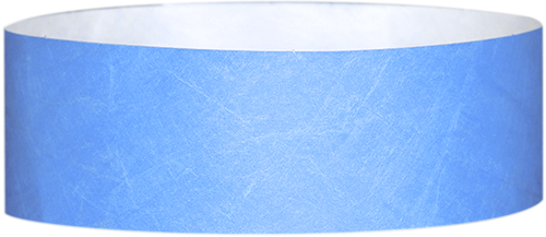 "A Tyvek® 1"" solid Sky Blue wristband"