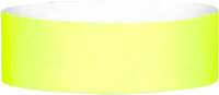 "A 1"" Tyvek® litter free solid Yellow Glow wristband"