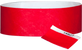 "A 1"" Tyvek® with stub solid Red wristband"