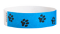 "A Tyvek®  3/4"" x 10"" Sheeted Pattern Animal Tracks Black wristband"