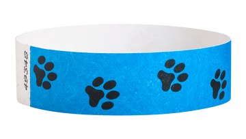 "Tyvek® 3/4"" x 10"" Sheeted Pattern Animal Tracks pattern wristbands"