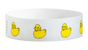 "A Tyvek®  3/4"" x 10"" Sheeted Pattern Rubber Duckies Multicolored wristband"