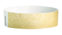 "A Tyvek®  3/4"" x 10"" Sheeted Solid Gold wristband"